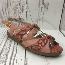 Softstyle By Hush Puppies Pink Textured Knotted Slingback Sandal Size 6M Cute