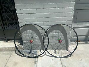 Bullseye Rasta Single speed 700c H Plus Son Tb14 36H wheelset