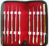 USA Top New type Dental Lab Stainless Steel Kit Wax Carving Tool Set Instrument