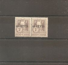 TIMBRE INDOCHINE INDOCHINA TAXE N°28/28a NEUF* MH CHINE CHINA ¤¤¤VIETNAM