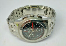 Mens Gucci 5500 Chrono Stainless Steel Chronograph Calender Watch Box & Papers