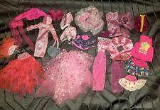Vintage Lot Mattel Barbie Doll Clothes Gowns Dress Tops Pants Bows Accessories