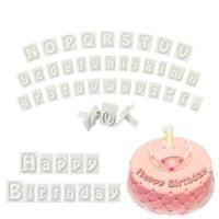 64pcs Alphabet Letter Cake Fondant Decor Cookie Cutter Molds Mould Birthday Q