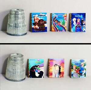 Dollhouse Miniature 1:12 Six Little Golden Books  Disney Princess Covers Set 2
