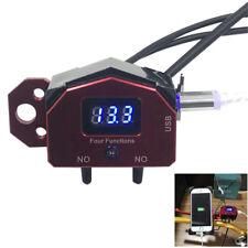 CNC Motorrad Kippschalter Digital Spannungsanzeige USB Ladegerät Lenker Knopf 1x