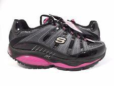 Skechers Women's Shape Ups Kinetix Response Fashion Sneaker,Charcoal/Pink,9.5 M