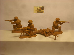 Soldatini Toy soldiers Matchbox 8th Army plastica 1:32 cm 5,5