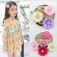 2/10 Pcs Wholesale Kids Baby Sun Flower Hairpin Hair Clips Barrette 6 Color PL