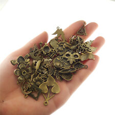 100g/lot Assorted Jewelry Crafts Alloy Bronze Charms Pendants Accessories 53201