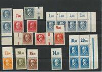 BAYERN 1916/20 postfrische schöne Pra.-/Kab.-Spezial-Sammlung meist Randstücke