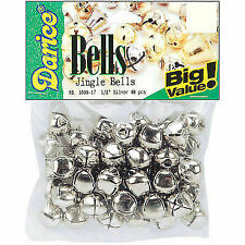 Darice Bells Jingle 13mm Silver 48pc