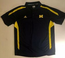 University of Michigan Adidas Mens Polo Shirt Climalite Size XL