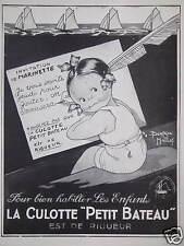 PUBLICITÉ 1930 LA CULOTTE PETIT BATEAU INVITATION MARINETTE - ADVERTISING