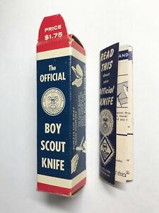 Vintage Boy Scout Knife ORIGINAL BOX & INSTRUCTIONS. Nicely preserved. Near mint