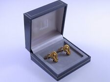 dunhill Gold Plated and Black Cufflinks MINT