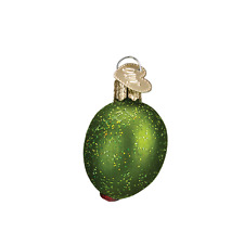 """Stuffed Green Olive"" (28072) Old World Christmas Glass Ornament"
