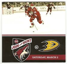 Phoenix Coyotes V. Anaheim Ducks Game Program from March 2, 2013