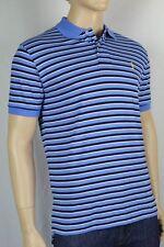 POLO Ralph Lauren X-Large XL Blue Navy Blue White Stripe Mesh Polo Shirt NWT