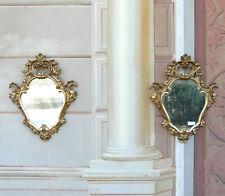 Coppia Piccole Specchiere lavorate epoca '800, mirrors carved gilt frames XIX