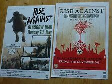 Rise Against - Scottish tour Glasgow concert gig posters x 2