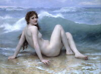 Art Giclee Print Beauty at the beach oil painting Printed on canvas P542