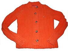 Tommy Hilfiger tolle Strick Jacke Gr. 152 orange !!