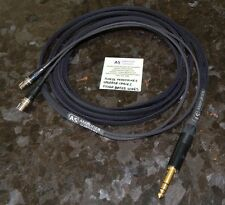 """10FT AUDEZE LCD-2 LCD-3 LCD-4 LCD-X Silver Plated upgrade cable 1/4"""" Made USA"""