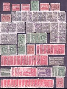 Newfoundland Stamps F-VF Cancels Set of 85 many duplicates