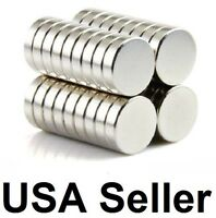 "lot 100 50 10mm X 2mm 3/8""x1/16"" Neodymium Disc Strong Rare Earth N50 Magnets"