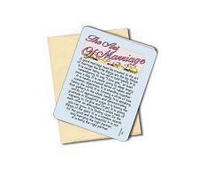 The Art Of Marriage - Wedding - Anniversary Greeting Card-Blank Inside -Sku# 632