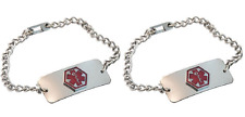 Medical Emergency Alert Bracelet, Blank (2 Pack)