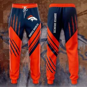 Denver Broncos Casual Joggers Sweatpants Pants Bottoms Active Sport Trousers