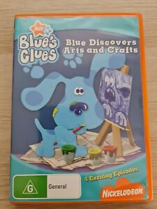 Nickelodeon Blue's Clues Blue Discovers Arts and Crafts DVD Region 4 PAL   RARE
