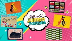 BlueQ Funny Jumbo Pouch in 17 Hilarious Styles   Perfect for magazines, papers