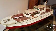 """Magnifique maquette vintage de bateau yacht """"BRIGAND"""" 1,20 m du XX ème"""