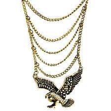 Punk goth disco bronze link chain bracelet eagle ring belly dance