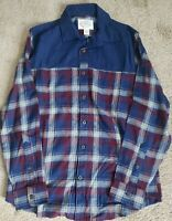Men's ST JOHNS BAY Navy Plaid Flannel  Shirt Size Large NWT Button Down
