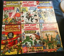 6 Silver Age Sgt Fury and His Howling Commandos  8-1st Dr Zemo,12,14,19,22,30,VG