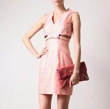 CHRISTOPHER KANE $1,895 cut out pink silk ribbon print bow dress SS13 runway NEW
