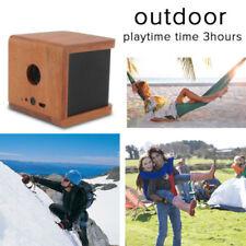 Portable Bluetooth Speaker Stereo Wood Wireless Speaker for Home, Outdoors