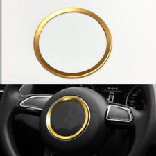 Gold 94mm Steering Wheel Emblem Trim Ring For Audi A3 A4 Q3 Q5 A5 A7 Tt