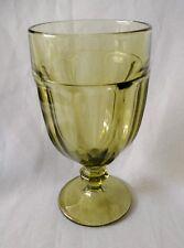 LIBBEY GIBRALTAR OLIVE GREEN ICE TEA GOBLET 16 OZ