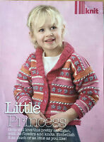 KNITTING PATTERN Girls Flower Cardigan Childrens V Neck Collar Debbie Bliss
