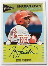 TERRY PENDLETON Auto 2013 Panini Hometown Heroes Baseball