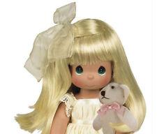 "Precious Moments Cherish Me Always Blonde Girl with Teddy Bear 12"" Doll New"