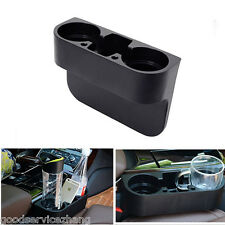 Universal Black 2 Cup Holder Drink Beverage Seat wedge Car Auto Truck Mount 1x