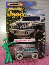 2016 Matchbox JEEP WILLYS☆Silver/Gray/Turquoise☆Anniversary Edition☆NIP☆1:64