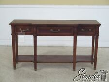 L42342: LEDA French Louis XVI Country Cherry Sofa Table ~ NEW