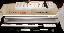 Toyota Kr506 Ribbing Rib Knit Knitter Knitting Machine w/accessories Mint Cond