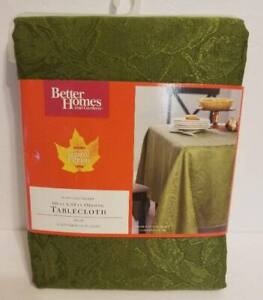 Better Homes & Gardens Solid Green Cloth Tablecloth 60 X 84 Oblong NEW NIP
